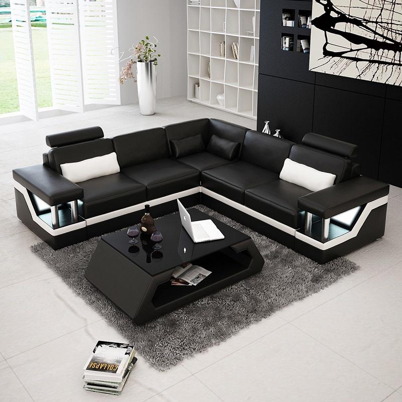 Canapé au centre